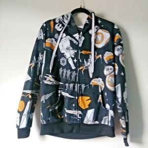 Other - Star Wars Men Medium Full Zip Black Graphic Hoodie